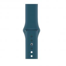 Силиконовый ремешок для Apple Watch 38/40/42/44мм Cosmos Blue (копия)