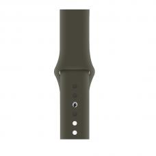 Силиконовый ремешок для Apple Watch 38/40/42/44мм Dark Olive (копия)