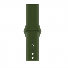 Силиконовый ремешок для Apple Watch 38/40/42/44мм Dark Virid (копия)