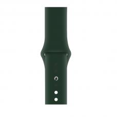 Силиконовый ремешок для Apple Watch 38/40/42/44мм Forest Green (копия)