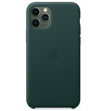 Кожаный чехол Apple Leather Case Forest Green для iPhone 11 Pro
