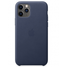 Кожаный чехол Apple Leather Case Midnight Blue для iPhone 11 Pro