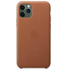 Кожаный чехол Apple Leather Case Saddle Brown для iPhone 11 Pro