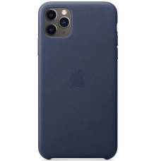 Кожаный чехол Apple Leather Case Midnight Blue для iPhone 11 Pro Max