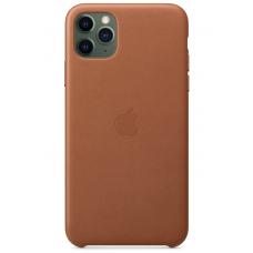 Кожаный чехол Apple Leather Case Saddle Brown для iPhone 11 Pro Max