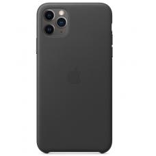 Кожаный чехол Apple Leather Case Black для iPhone 11 Pro Max