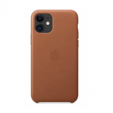 Кожаный чехол Apple Leather Case Saddle Brown для iPhone 11