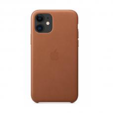 Кожаный чехол Apple Leather Case Saddle Brown для iPhone 11