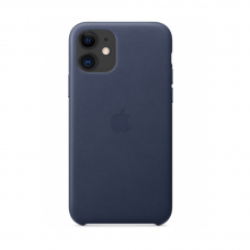 Кожаный чехол Apple Leather Case Midnight Blue для iPhone 11
