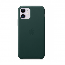 Кожаный чехол Apple Leather Case Forest Green для iPhone 11