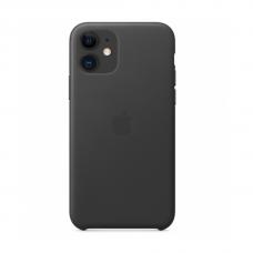 Кожаный чехол Apple Leather Case Black для iPhone 11