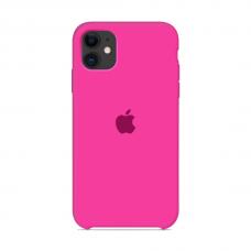 Силиконовый чехол Apple Silicone Case Hot Pink для iPhone 11