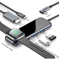 Переходник Baseus HUB Wireless Charging для iPad Pro и MacBook Type-C на HDMI