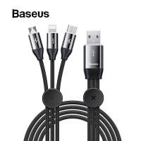 Зарядный кабель Baseus 3 в 1: Lightning, Micro-USB, Type-c
