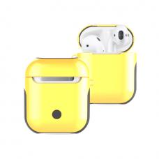Силиконовый ультра-защитный чехол для AirPods Желтый