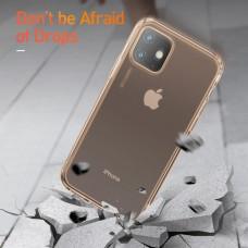 Защитный прозрачно-золотой чехол Baseus Airbags Case для iPhone 11