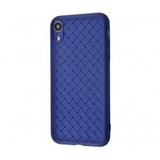 Чехол для iPhone Xr Weaving Case Синий