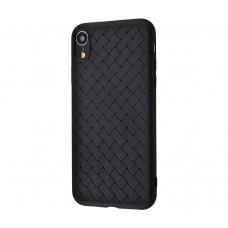 Чехол для iPhone Xr Weaving Case Черный