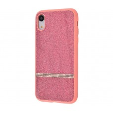 Чехол для iPhone Xr Pictures Swarovski Line Розовый