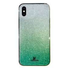 Чехол Swarovski Green Gradient для iPhone X/Xs