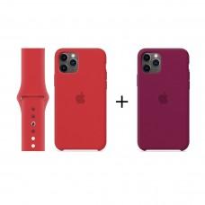 Набор 2 + 1: Чехол и ремешок для Apple Watch + Чехол в подарок!