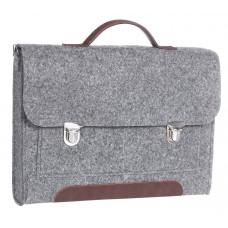 """Портфель-сумка Gmakin GS13-13.3 (Macbook Pro 13.3"""") Серый с металическими застежками"""