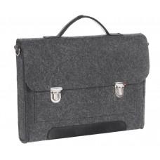 """Портфель-сумка Gmakin GS14-13.3 (Macbook Pro 13.3"""") Черный с металическими застежками"""