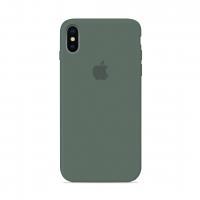 Силиконовый чехол Apple Silicone Case Pine Green для iPhone X/Xs