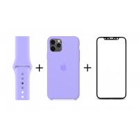 Набор 2 + 1: Чехол и ремешок для Apple Watch + Стекло в подарок!