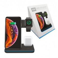 Беспроводная зарядная станция Z5 B 3 in 1 Wireless Charger for Apple iWatch и Apple iPhone, AirPods