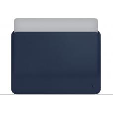 Кожаный чехол-конверт для Macbook Pro 13,3 WiWU Skin Pro Leather Темно-синий