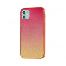 Чехол Ambre Glass красно-золотистый для iPhone 11