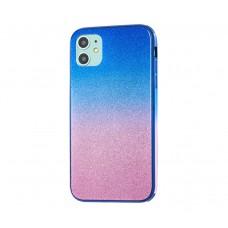 Чехол Ambre Glass розово-голубой для iPhone 11