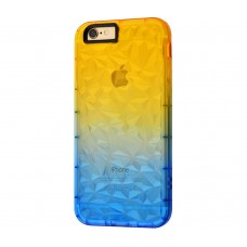 """Силиконовый чехол для iPhone 7/8 Gradient Gelin Case """"Желто-синий""""."""