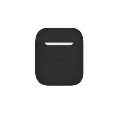 Тонкий силиконовый чехол для AirPods Black