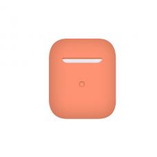 Тонкий силиконовый чехол для AirPods Peach
