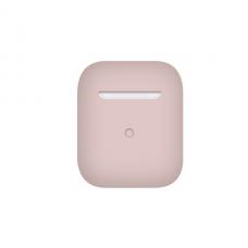 Тонкий силиконовый чехол для AirPods Pink Sand