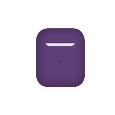 Тонкий силиконовый чехол для AirPods Purple