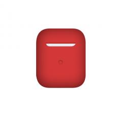 Тонкий силиконовый чехол для AirPods Red