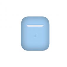 Тонкий силиконовый чехол для AirPods Sky Blue