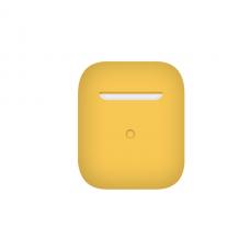 Тонкий силиконовый чехол для AirPods Yellow