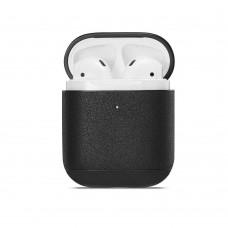 Кожаный чехол Leather Case Black для Airpods