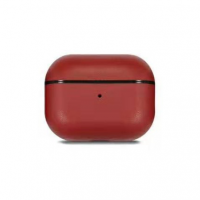 Кожаный чехол Leather Case Red для AirPods Pro