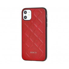 Чехол Jesco Leather для iPhone 11 Красный