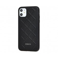 Чехол Jesco Leather для iPhone 11 Черный