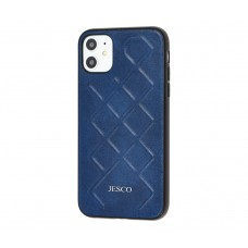 Чехол Jesco Leather для iPhone 11 Синий