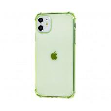 Чехол WXD Ударопрочный прозрачный для iPhone 11 Зеленый