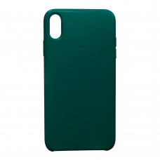 Кожаный чехол apple leather case Forest green на iPhone X/Xs (копия)