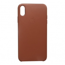 Кожаный чехол apple leather case Saddle brown на iPhone X/Xs (копия)