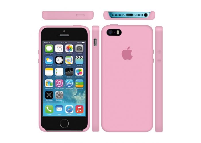 Силиконовый чехол Apple Silicone Case Pink для iPhone 5/5s/SE